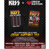 KISS x CREW NATION 「STAY AT HOME」 Tシャツ販売決定!