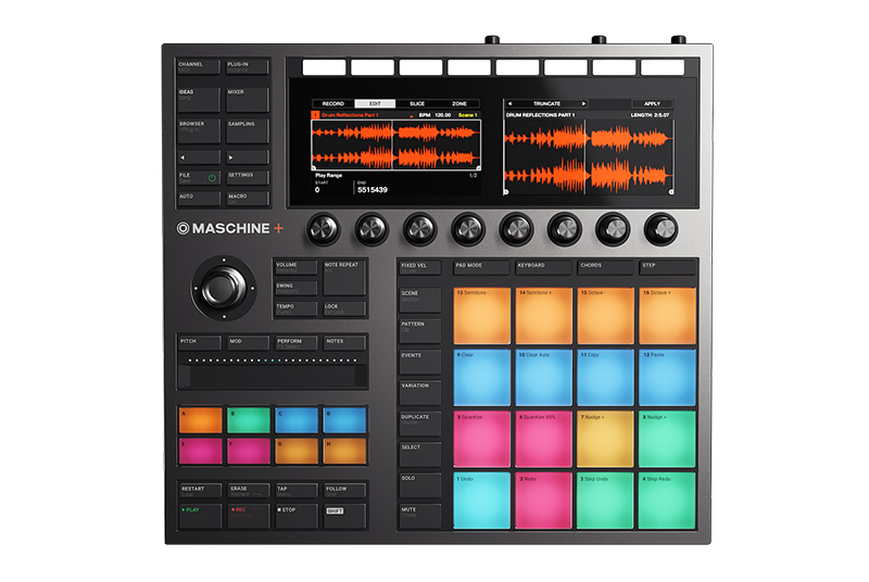 Native Instruments「MASCHINE+」top